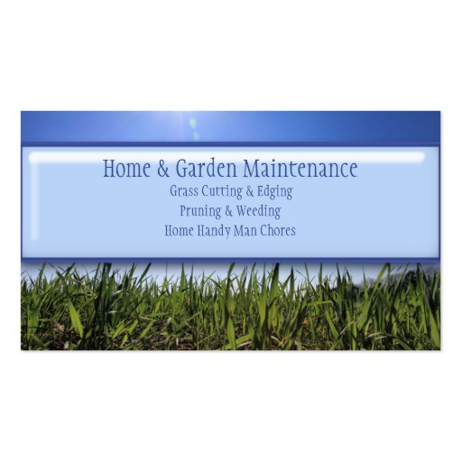 Home handy man lawn mowing gardening maintenance business for Mowing business cards