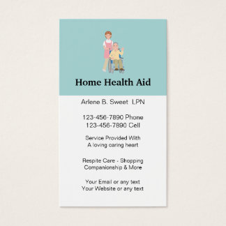 Home Health Aid Business Cards