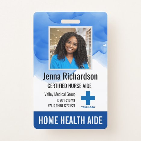 Home Health Aide / Certified Nurse Aide Photo ID Badge