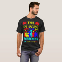 Home Health Aide Wear Blue For Autism Awareness T-Shirt