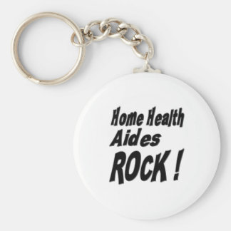 Home Health Aides Rock! Keychain