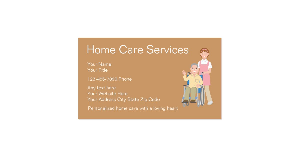 Home Health Business Cards Zazzle
