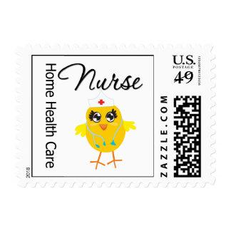 Home Health Care Nurse Chick v1 Postage Stamps