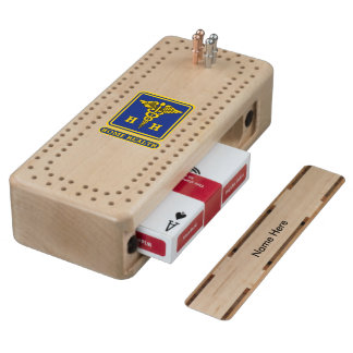 Home Health Care Worker Badge Wood Cribbage Board