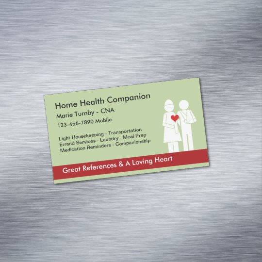 Home health companion cna business card magnet zazzle home health companion cna business card magnet colourmoves