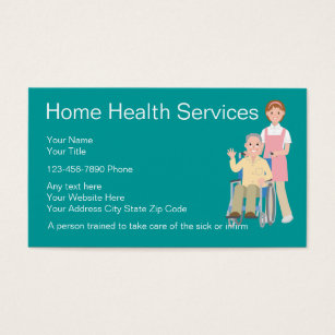 Home health care business cards templates zazzle home health nurse business cards reheart Image collections