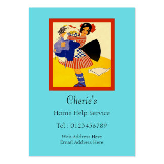 Home Help Service Large Business Cards (Pack Of 100)