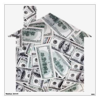 Home / House Decal Shape- $100 Dollar Bills