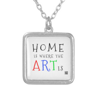 Home ice where the articles ice - square necklace