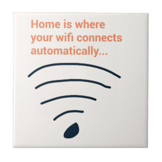 Home ice where wifi connects ceramic tile