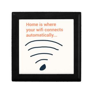 Home ice where wifi connects keepsake box
