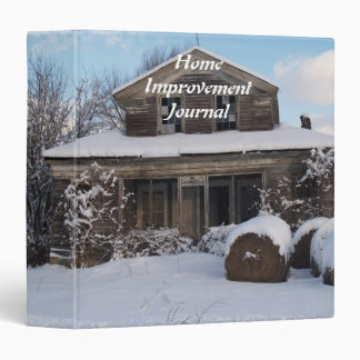 Home Improvement Journal 3 Ring Binder