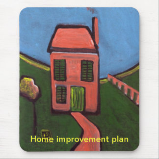 Home improvement plan mouse pad