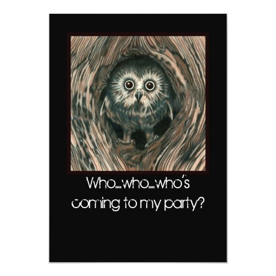 """""""Home In a Hole"""" Owl Invitations"""