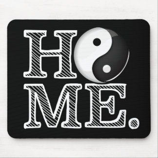 Home in Harmony Classic Yin Yang Symbol Mouse Pad