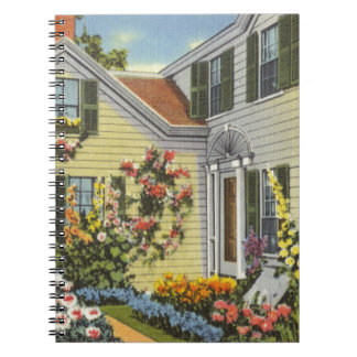 Home in Massachusetts Spiral Note Book