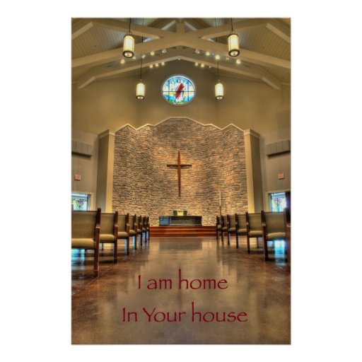 Home in Your House - Religious Affirmation Poster