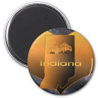 Home Indiana 2 Inch Round Magnet