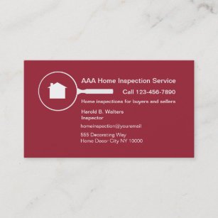 Home inspection business cards templates zazzle home inspection business card colourmoves
