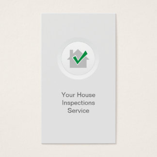 Home Inspection Elegant White Business Card