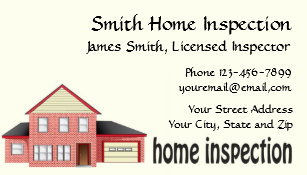 Home inspection business cards zazzle home inspection inspector business card colourmoves