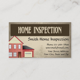 Home inspection business cards templates zazzle home inspection inspector business card colourmoves