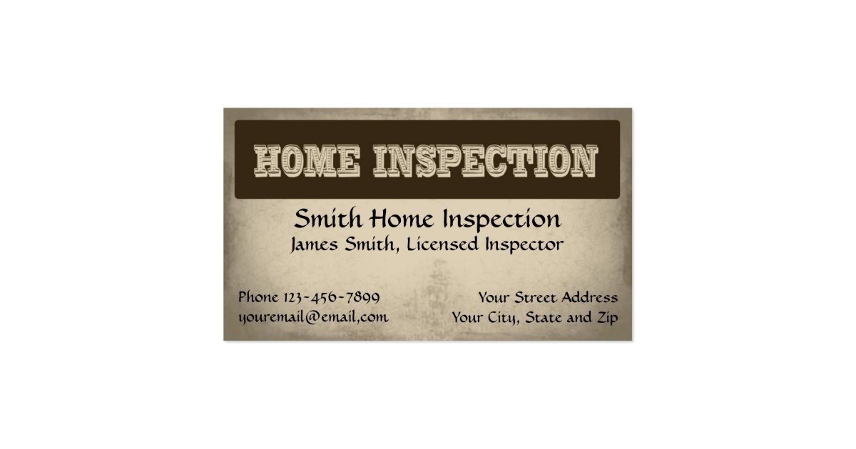 Home inspection inspector business card zazzle for Home inspection business cards