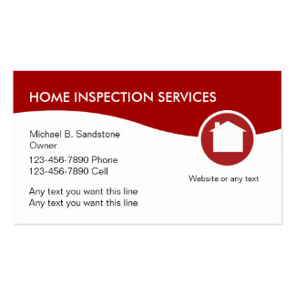 home inspector business cards templates zazzle
