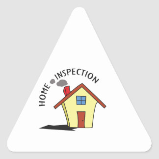 HOME INSPECTION TRIANGLE STICKER