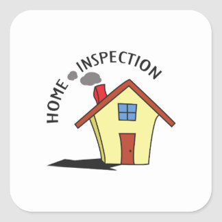 HOME INSPECTION SQUARE STICKER