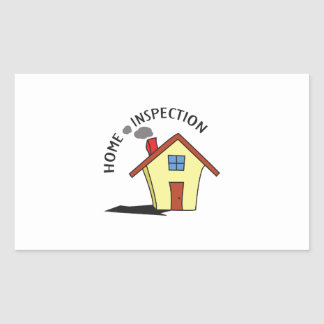 HOME INSPECTION RECTANGLE STICKER