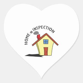 HOME INSPECTION HEART STICKER