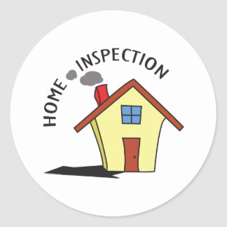 HOME INSPECTION ROUND STICKERS