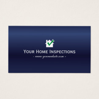 Home Inspections Real Estate Royal Blue Business Card