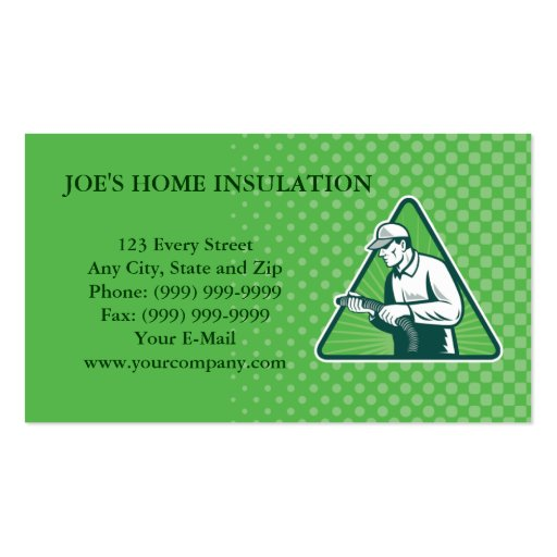 home insulation technician business card