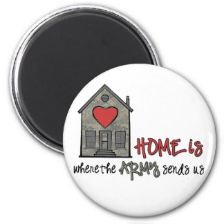 Home is 2 inch round magnet