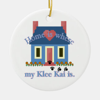 Home Is Alaskan Klee Kai Ceramic Ornament