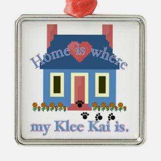 Home Is Alaskan Klee Kai Metal Ornament
