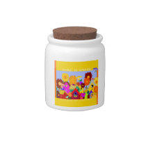 Home Is Among a Flock of Friends Candy Jar