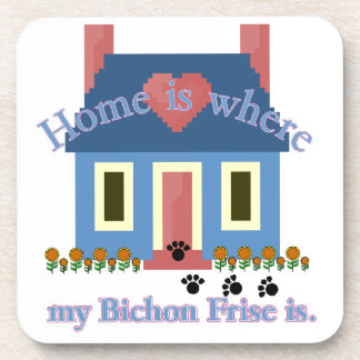 Home Is Bichon Frise Drink Coaster