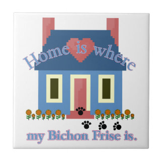 Home Is Bichon Frise Tile