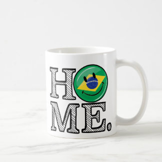Home is Brazil Smiling Flag House Warmer Coffee Mug