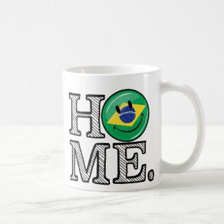 Home is Brazil Smiling Flag House Warmer Coffee Mug