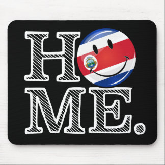 Home is Costa Rica Smiling flag Housewarming Mouse Pad