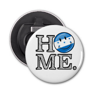 Home is Honduras Smiling Flag Housewarming Bottle Opener