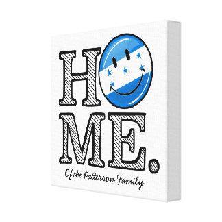 Home is Honduras Smiling Flag Housewarming Canvas Print