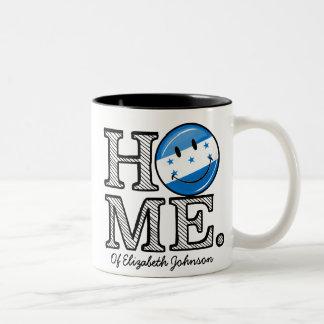 Home is Honduras Smiling Flag Housewarming Two-Tone Coffee Mug