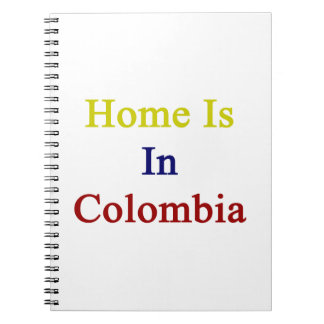 Home Is In Colombia Spiral Notebook