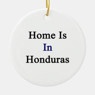 Home Is In Honduras Christmas Tree Ornaments