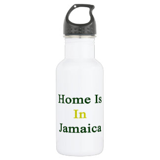 Home Is In Jamaica 18oz Water Bottle
